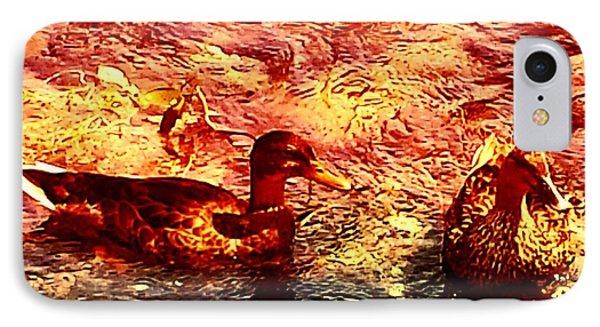 Couple Of Ducks IPhone Case by Jason Michael Roust