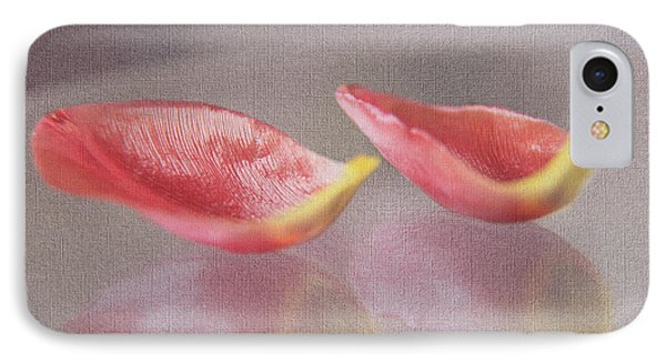 Couple Of Red Tulip Petals IPhone Case by Eden Baed