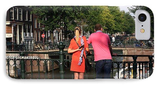 Couple On The Bridge IPhone Case by Aidan Moran
