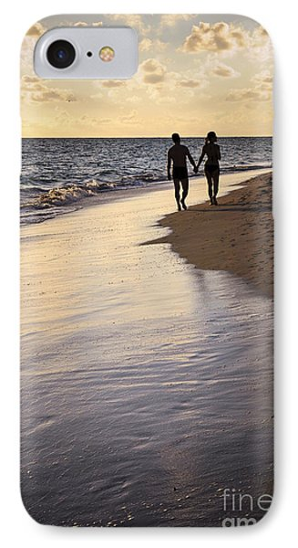 Couple Walking On A Beach IPhone Case by Elena Elisseeva