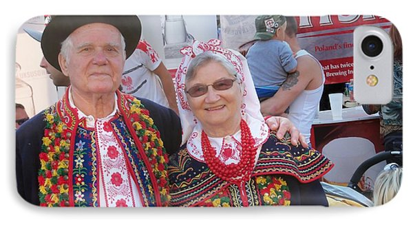 Couples In Polish National Costumes Phone Case by Lingfai Leung