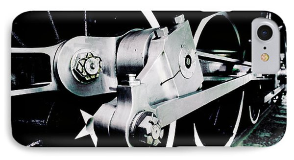 Coupling Rods And Driver Wheels For A Steam Locomotive Phone Case by Wernher Krutein