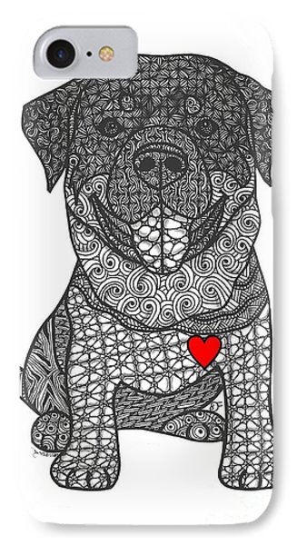 Courageous - Rottweiler IPhone Case
