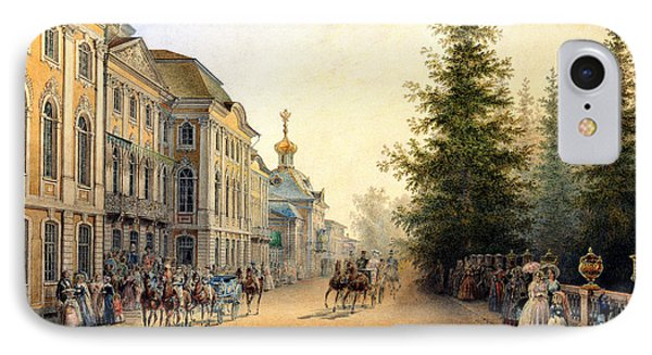 Court Departure At The Main Entrance Of The Great Palace IPhone Case by Vasili Semenovich Sadovnikov