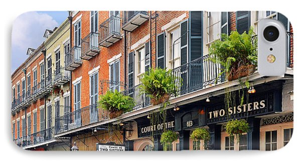 Court Of Two Sisters New Orleans IPhone Case by Christine Till