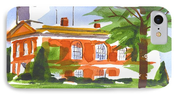 Courthouse On A Summers Evening Phone Case by Kip DeVore