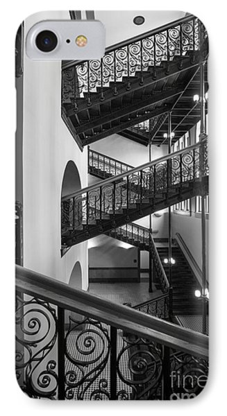 Courthouse Staircases IPhone Case by Inge Johnsson