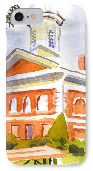 Courthouse With Picnic Table Phone Case by Kip DeVore