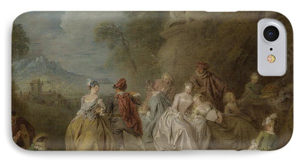 Courtly Scene In A Park, C.1730-35 IPhone Case