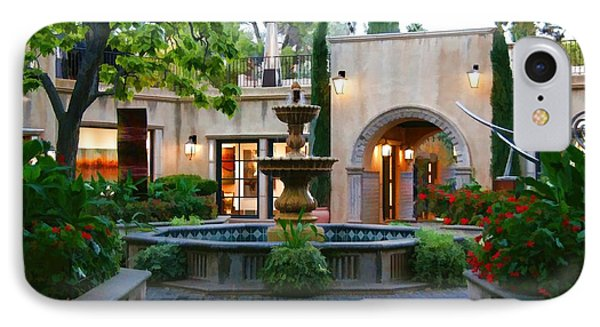 Courtyard Fountain In Tlaquepaque IPhone Case