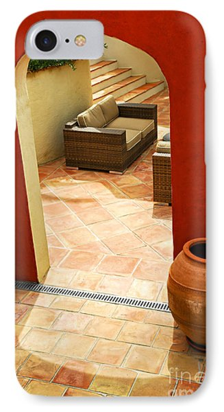 Courtyard Of A Villa IPhone Case by Elena Elisseeva