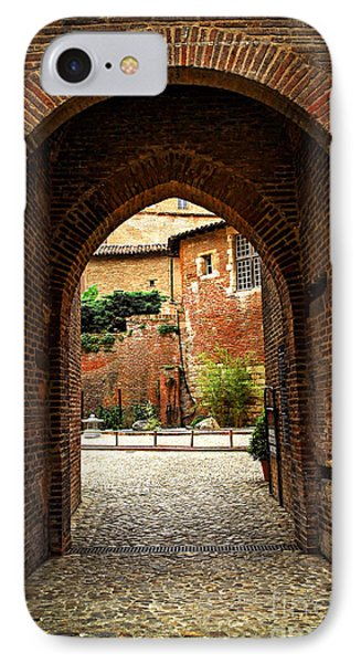 Courtyard Of Cathedral Of Ste-cecile In Albi France Phone Case by Elena Elisseeva