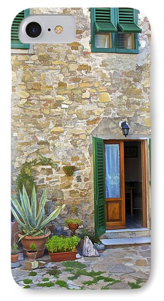 Courtyard Of Tuscany Phone Case by David Letts