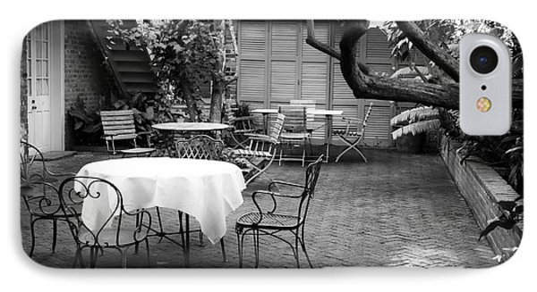 Courtyard Seating IPhone Case by John Rizzuto