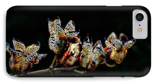 IPhone Case featuring the digital art Cove Weeds by Kathleen Stephens