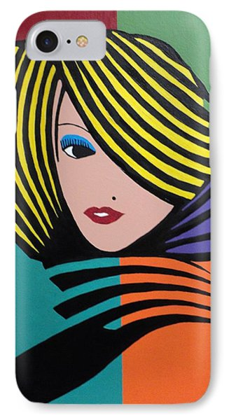 Cover Girl IPhone Case by Angelo Thomas