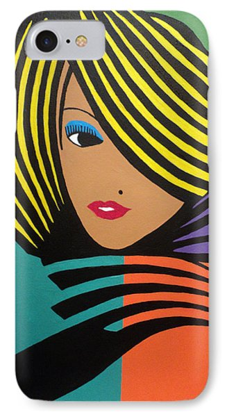 Cover Girl II IPhone Case by Angelo Thomas