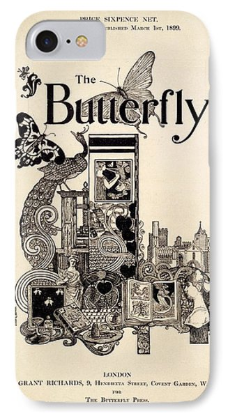 Cover Of The Butterfly Magazine IPhone Case by English School