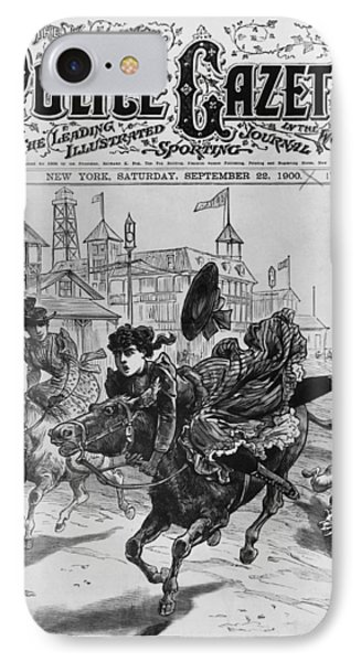 Cover Of The Police Gazette IPhone Case by Underwood Archives