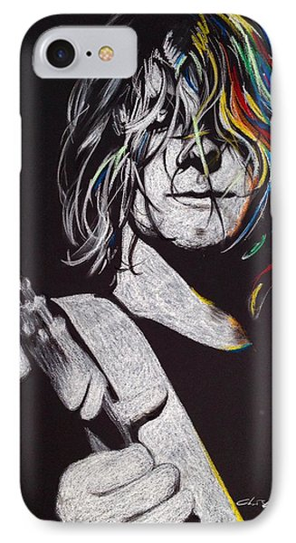 Kurt Cobain - ' Cover The Hair In Your Eyes ' IPhone Case by Christian Chapman Art
