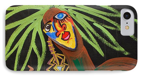 IPhone Case featuring the painting Cover Up Girl by Cleaster Cotton