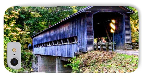 Covered Bridge 1 IPhone Case by Gena Weiser