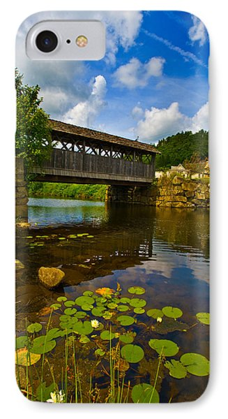 Covered Bridge Across A River, Vermont IPhone Case