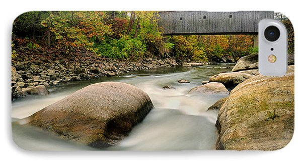 Covered Bridge At Bull Run - Kent Connecticut Phone Case by Thomas Schoeller