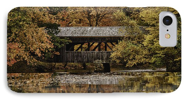 IPhone Case featuring the photograph Covered Bridge At Sturbridge Village by Jeff Folger