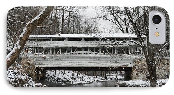 Covered Bridge At Valley Forge IPhone Case by Bill Cannon