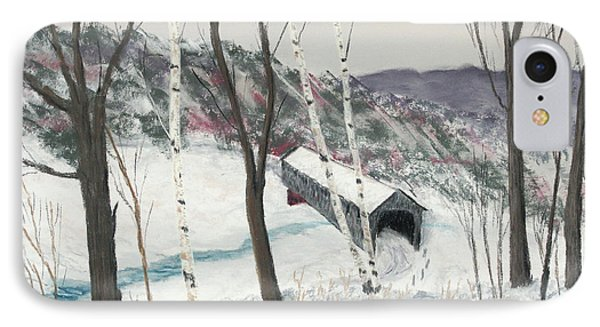 Covered Bridge Phone Case by George Burr