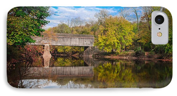 IPhone Case featuring the photograph Covered Bridge In Autumn by Phil Abrams