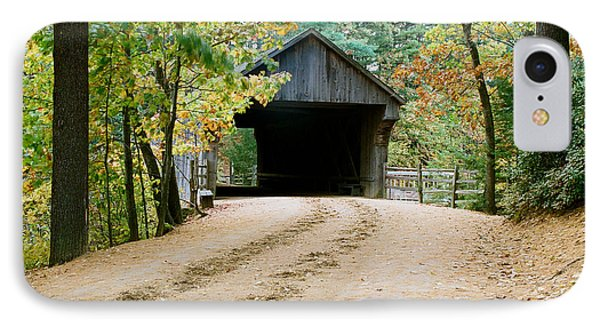 IPhone Case featuring the photograph Covered Bridge In October by Vinnie Oakes