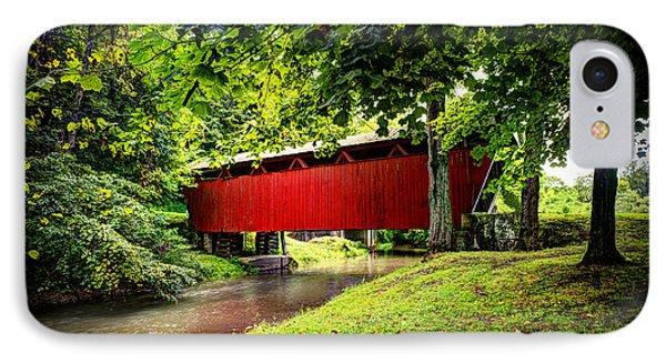 Covered Bridge In Pa Phone Case by Dan Friend