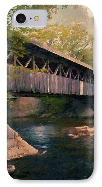 IPhone Case featuring the painting Covered Bridge by Jeff Kolker