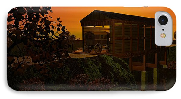 Covered Bridge IPhone Case by John Pangia