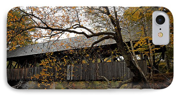 Covered Bridge IPhone Case by Lone Dakota Photography