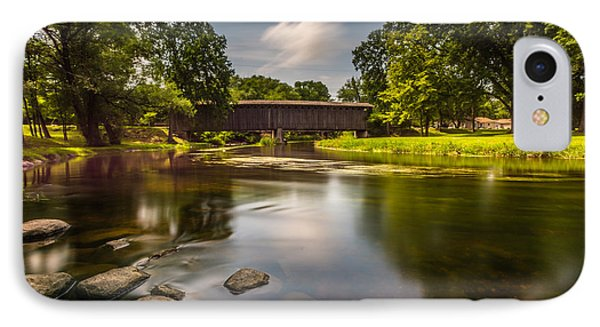 Covered Bridge Long Exposure IPhone Case by Randy Scherkenbach