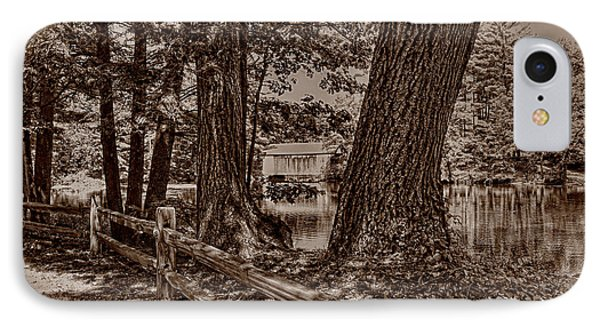 IPhone Case featuring the photograph Covered Bridge by Nigel Fletcher-Jones