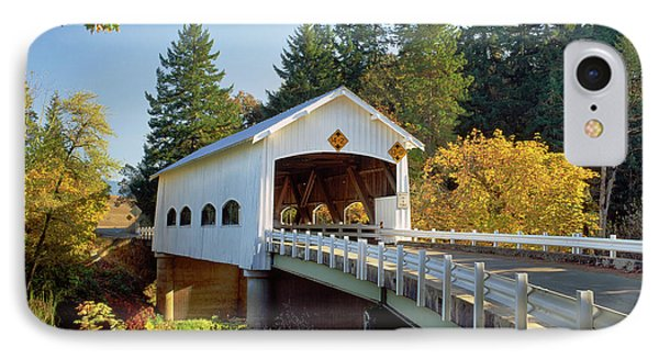 Covered Bridge Over A River, Rochester IPhone Case