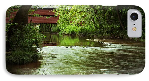 Covered Bridge Over French Creek IPhone Case