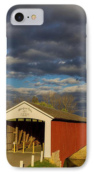 Covered Bridge Over The East Fork IPhone Case by Chuck Haney