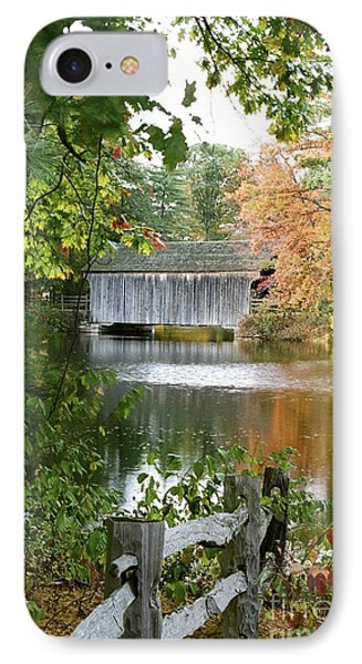 Covered Bridge Over The Lake IPhone Case