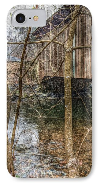 Covered Bridge Snowy Day IPhone Case by Susan Maxwell Schmidt