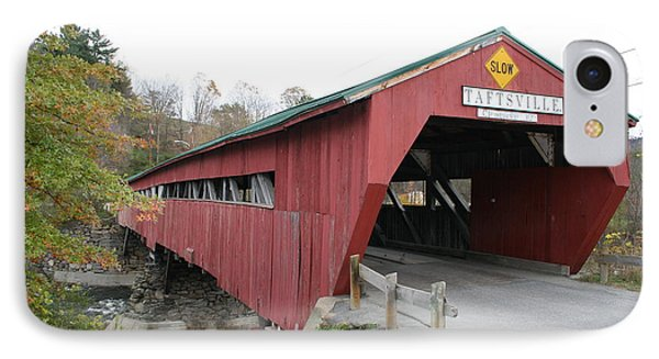 Covered Bridge Taftsville IPhone Case by Christiane Schulze Art And Photography