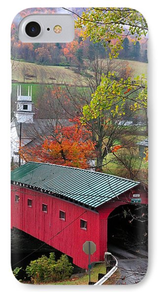 Covered Bridge-west Arlington Vermont IPhone Case
