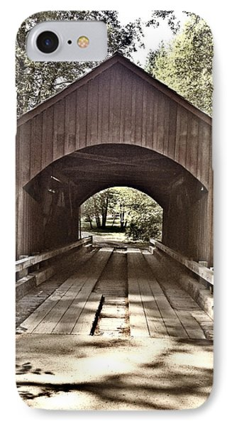 Covered Bridge Yachats Oregon IPhone Case by Tobeimean Peter