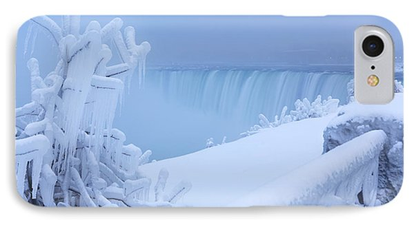 Covered With Snow And Ice Niagara Falls IPhone Case