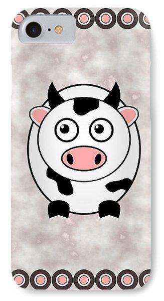 Cow - Animals - Art For Kids IPhone Case by Anastasiya Malakhova