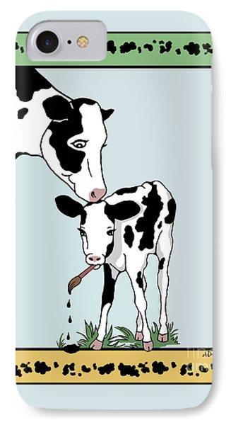 Cow Artist Cow Art Phone Case by Audra D Lemke